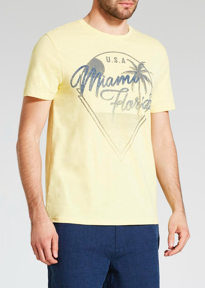 Miami Florida Print T-Shirt