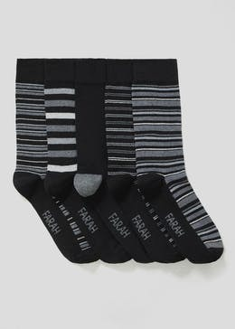 5 Pack Farah Stripe Socks