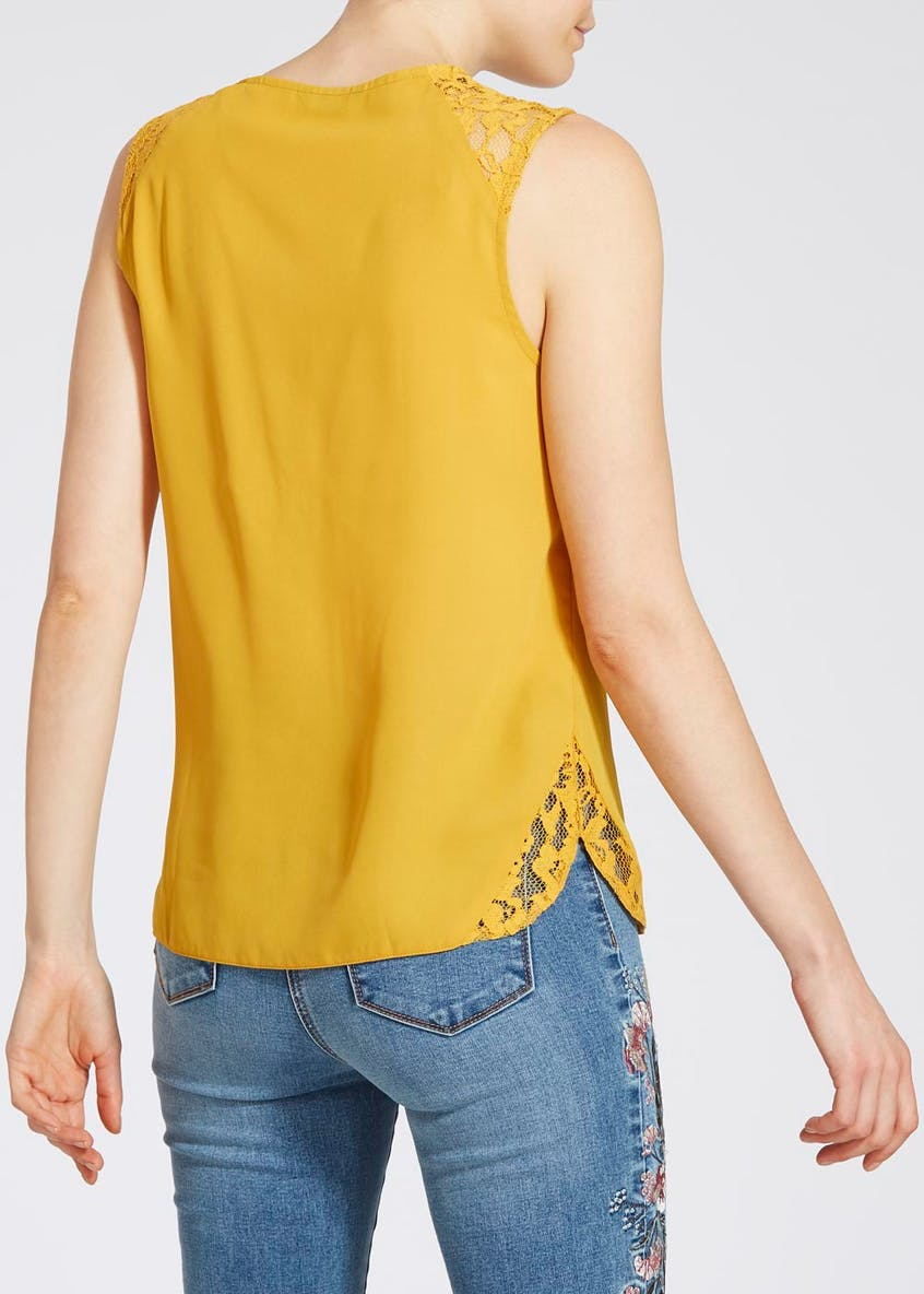 Lace Shoulder Vest Top
