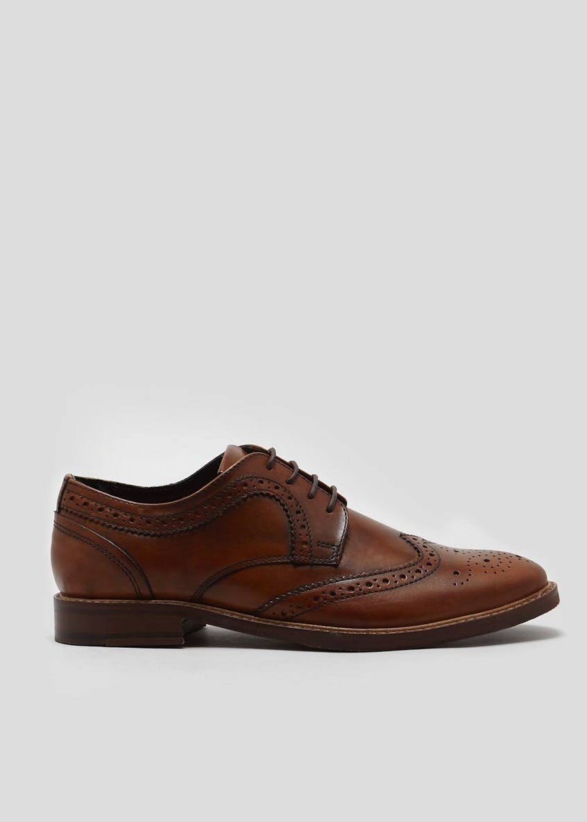 Real Leather Brogues