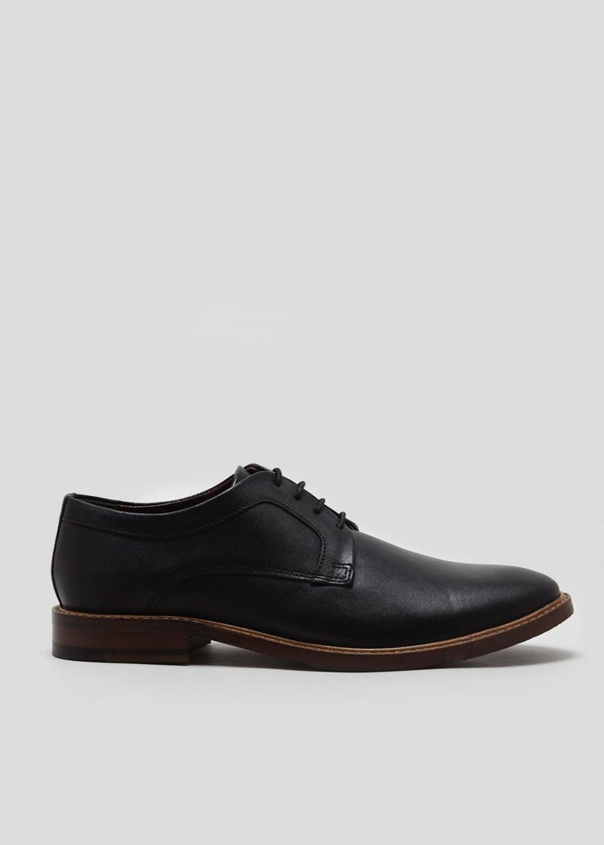 Real Leather Derby Shoes