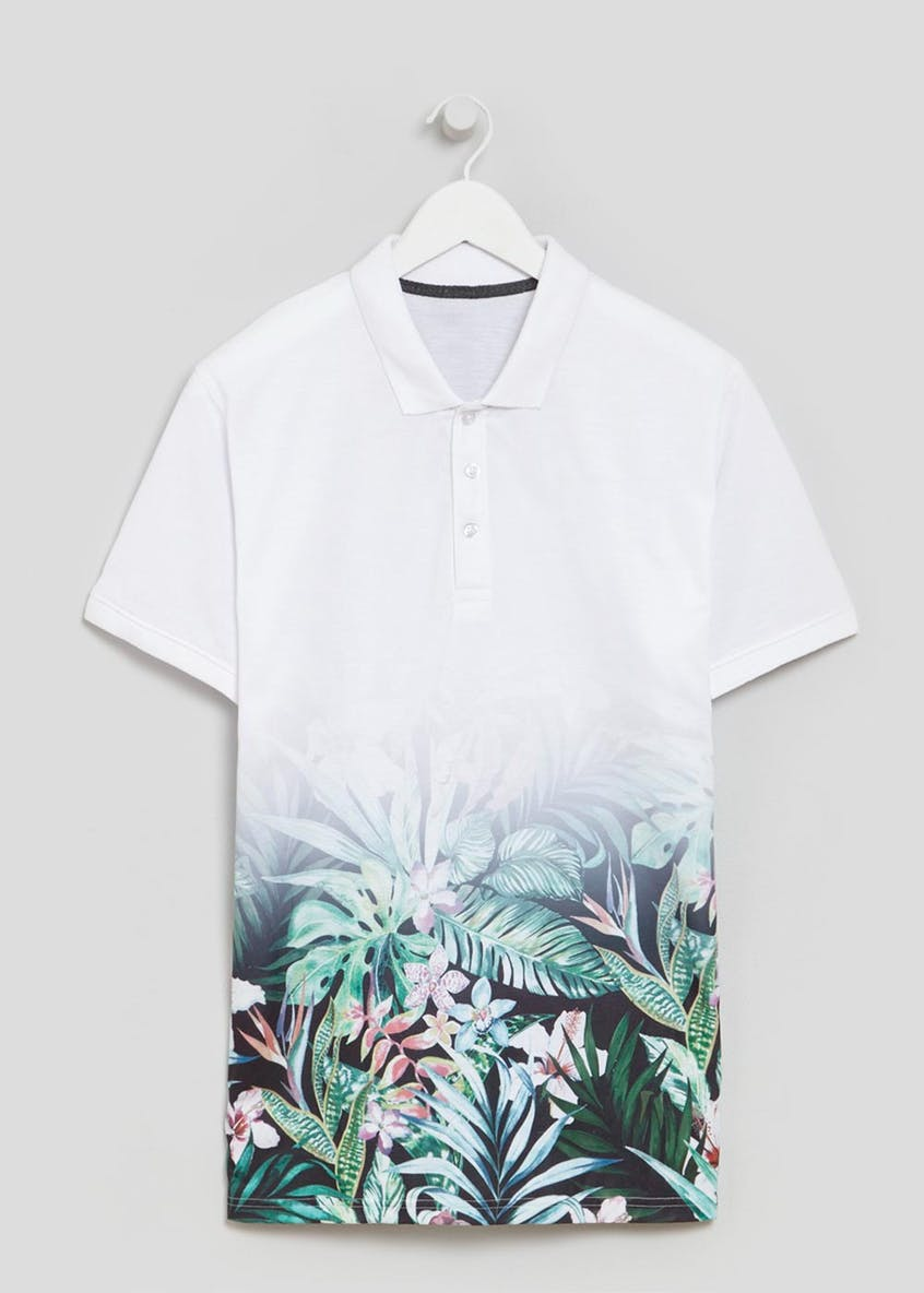 Sublimation Floral Print Polo Shirt
