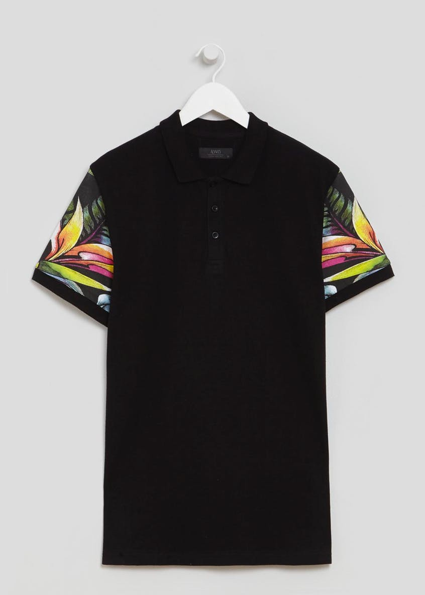 Floral Sleeve Polo Shirt