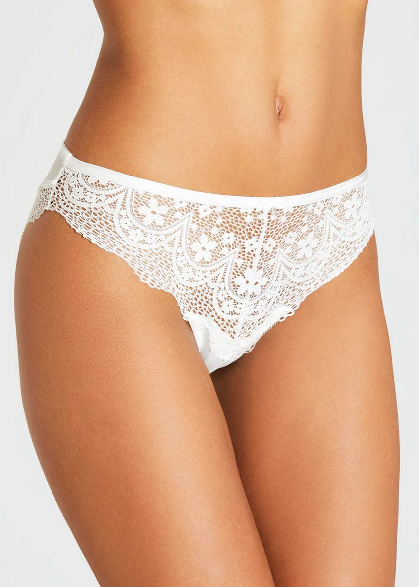 Corded Lace High Leg Knickers