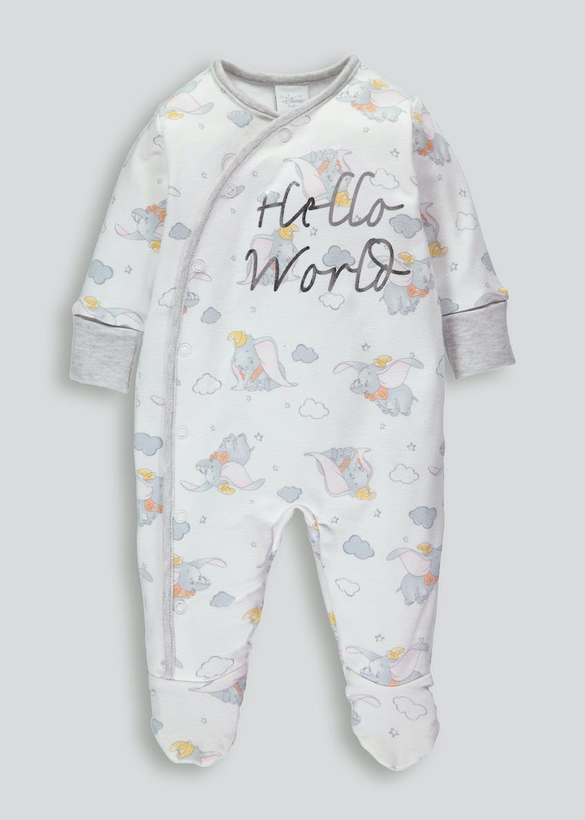 Unisex Disney Dumbo Sleepsuit (Newborn-9mths)