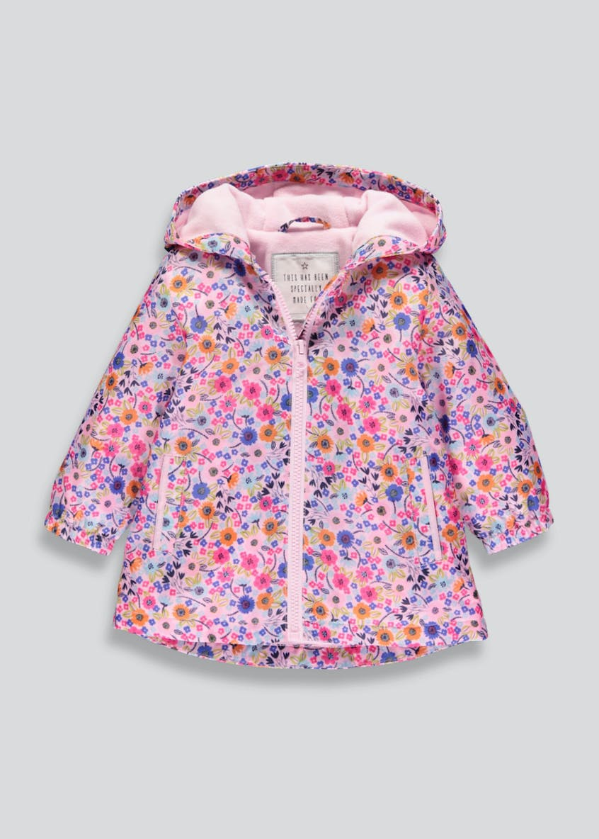 Girls Floral Rain Mac (6mths-6yrs)