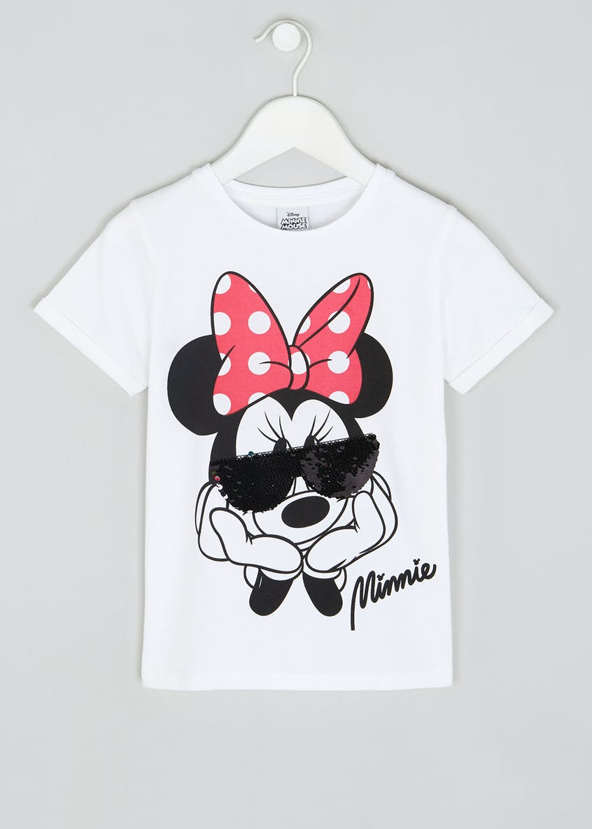Kids Disney Minnie Mouse Two Way Sequin T-Shirt (5-9yrs)
