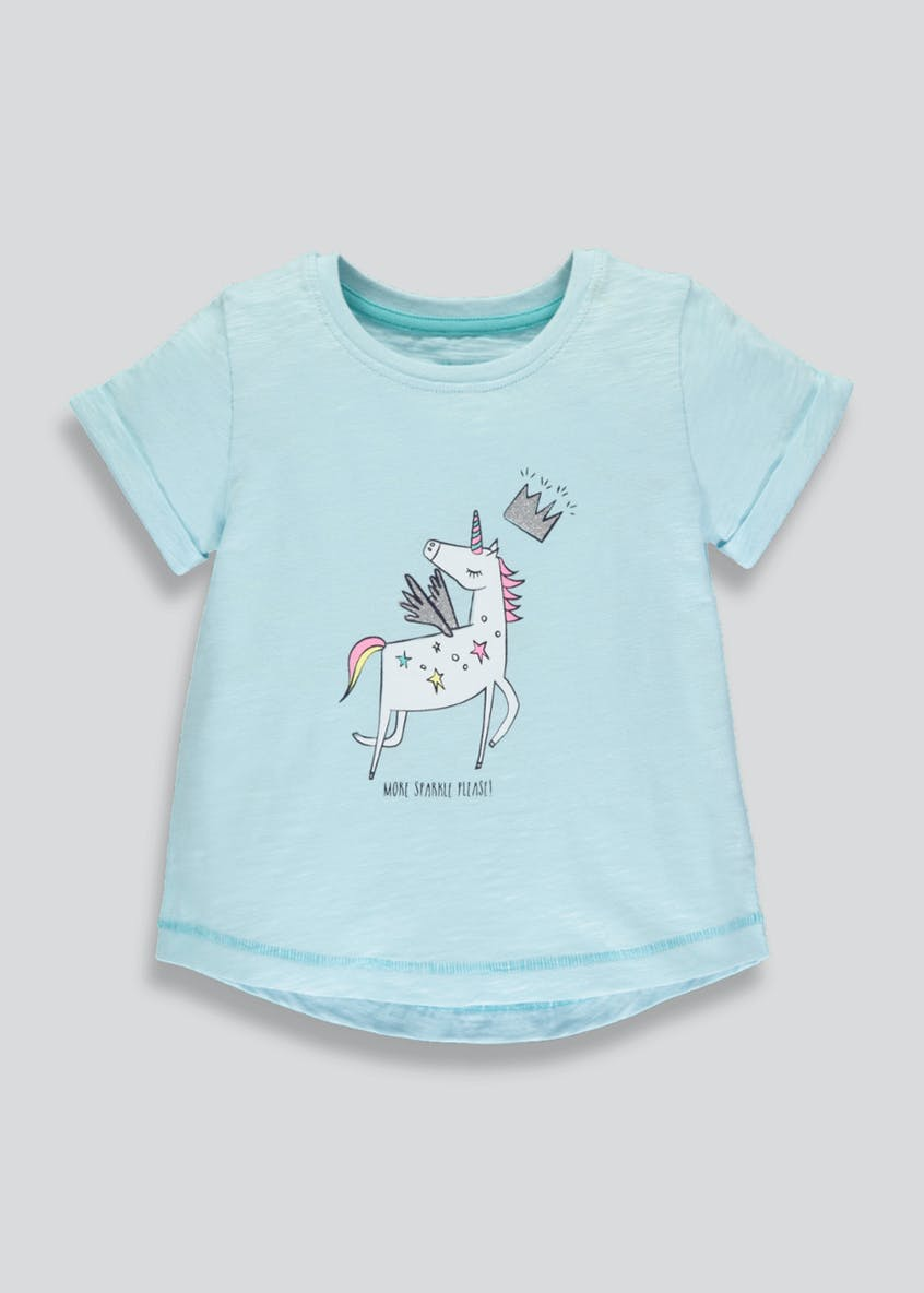 Girls Unicorn T-Shirt (3mths-6yrs)