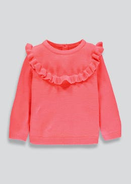 Girls Frill Jumper (3mths-6yrs)