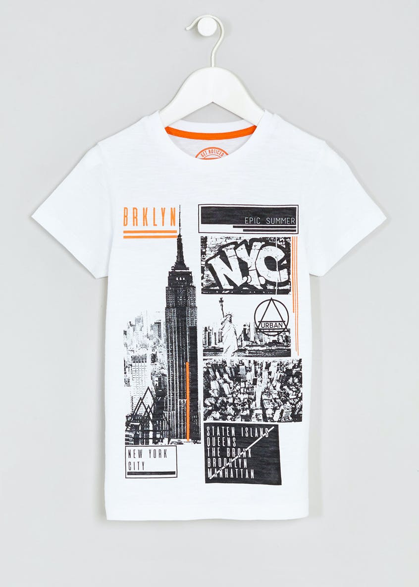 Brooklyn Print T-Shirt (4-13yrs)