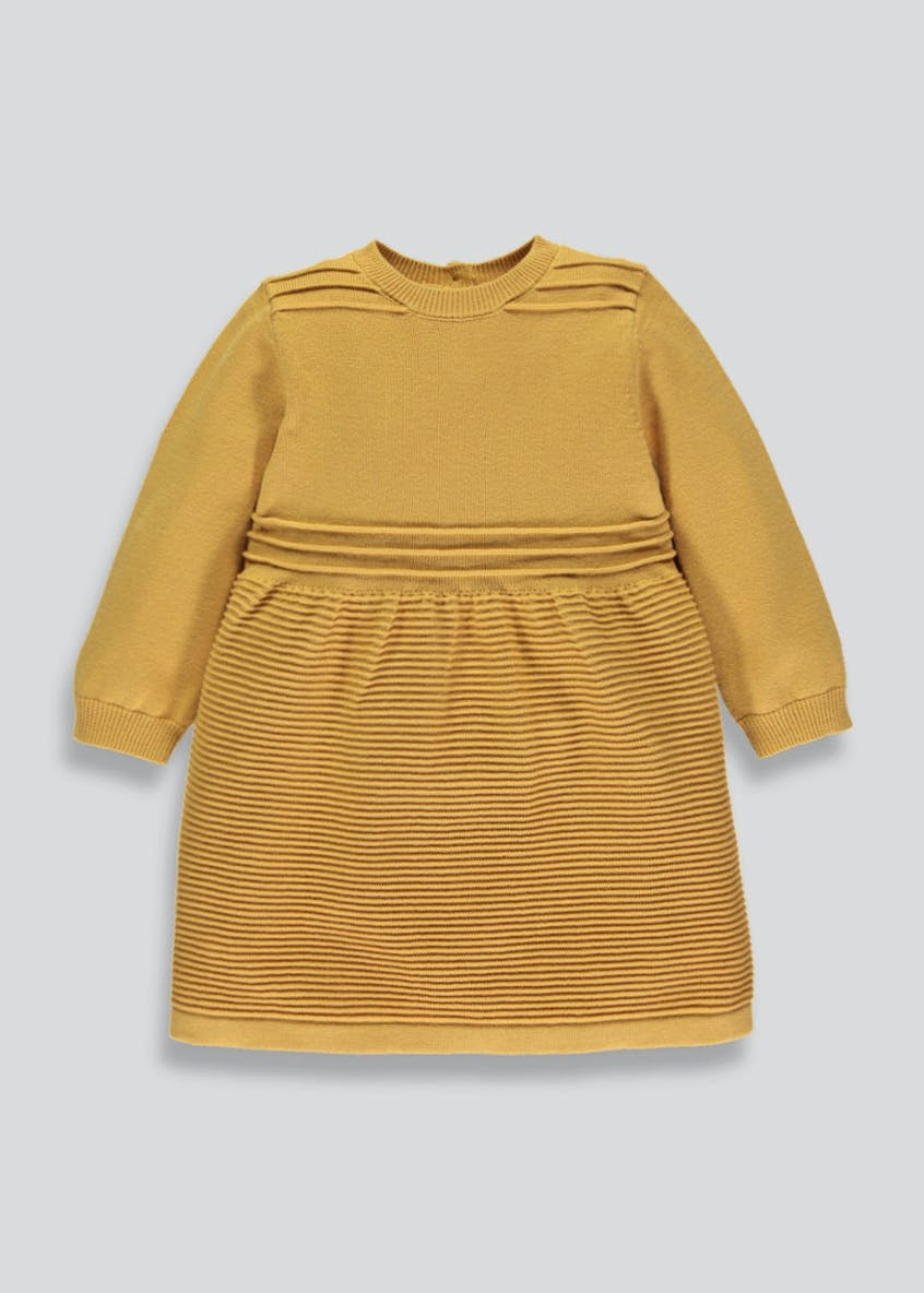 Girls Ribbed Knitted Dress (3mths-6yrs)