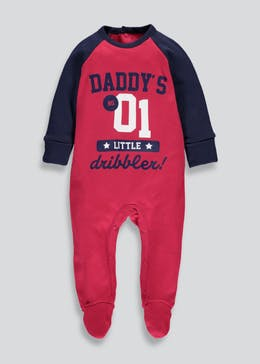 Unisex Football Dribbler Slogan Sleepsuit (Tiny Baby-9mths)