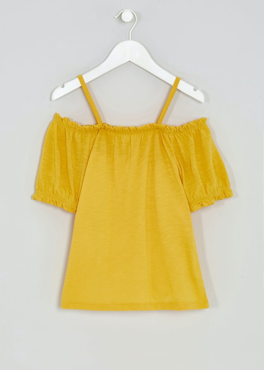 Girls Candy Couture Cold Shoulder Top (9-16yrs)