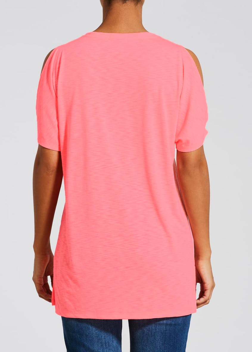 Longline Cold Shoulder T-Shirt