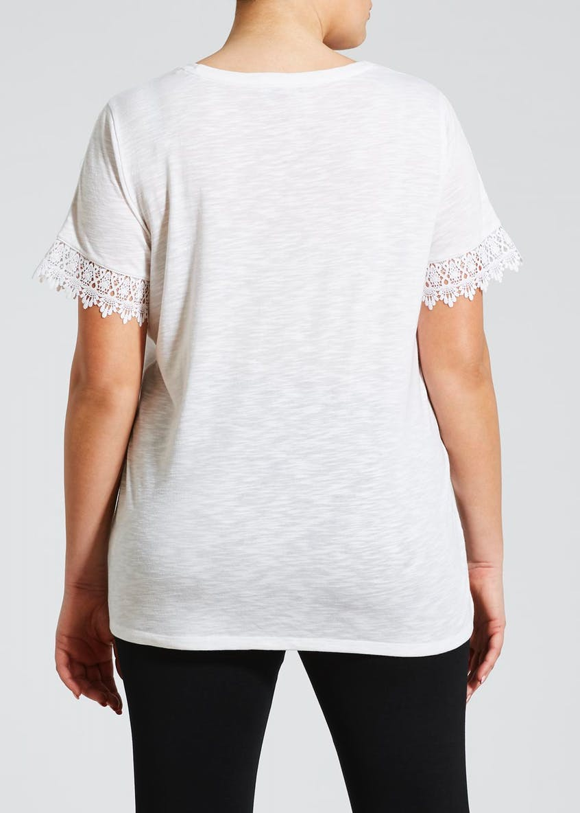 Papaya Curve Lace Trim T-Shirt