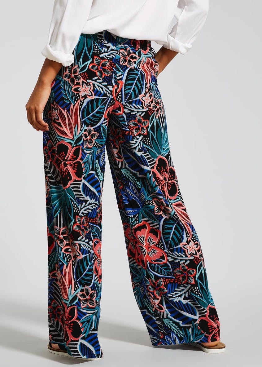 Floral Wide Leg Palazzo Trousers