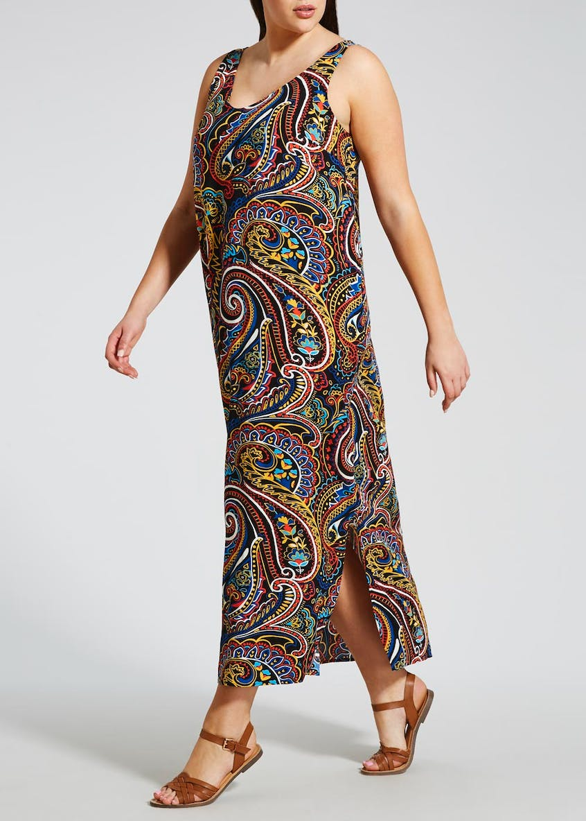 Papaya Curve Paisley Maxi Dress