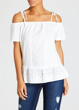 Schiffley Panel Cold Shoulder Top