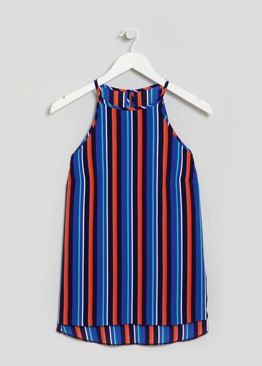 Stripe High Vest Top