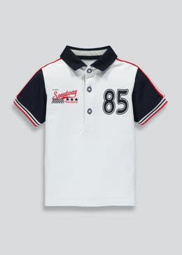 Boys Biker Pique Polo Shirt (3mths-6yrs)