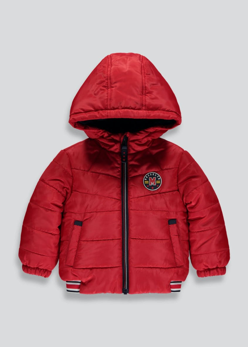 Boys Quilted Bomber Coat (6mths-6yrs)