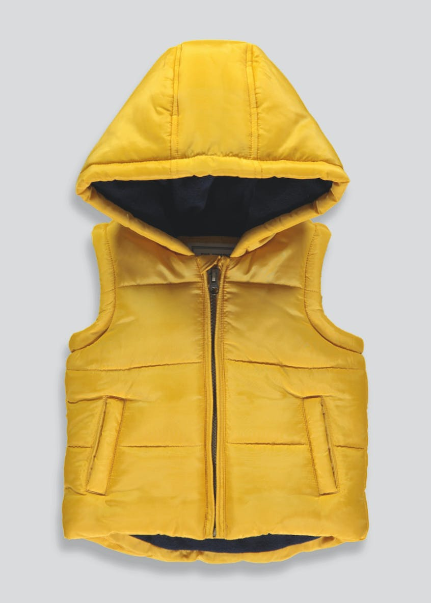 Boys Quilted Hooded Gilet (9mths-6yrs)