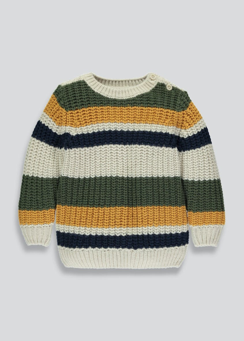 Kids Stripe Fisherman Knit Jumper (3mths-6yrs)