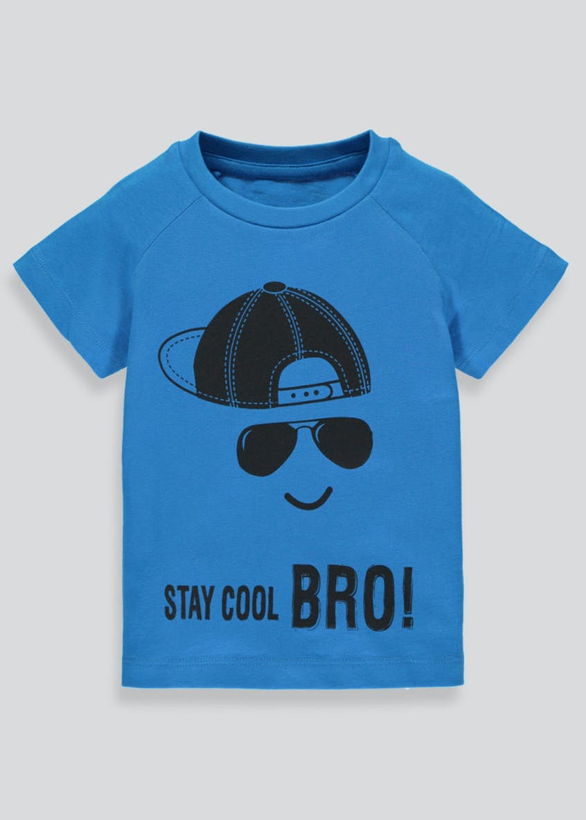 Boys Stay Cool Slogan T-Shirt (3mths-6yrs)