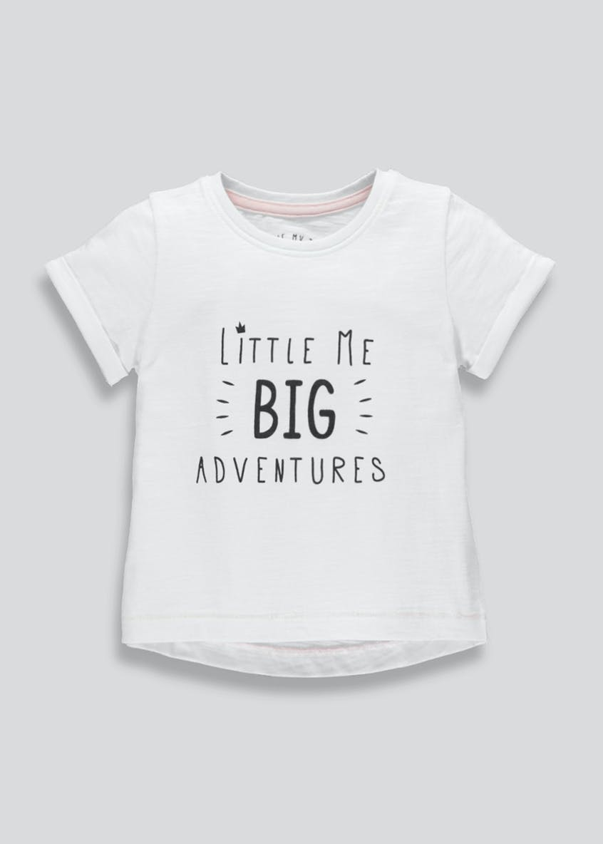 Girls Adventure Slogan T-Shirt (3mths-6yrs)