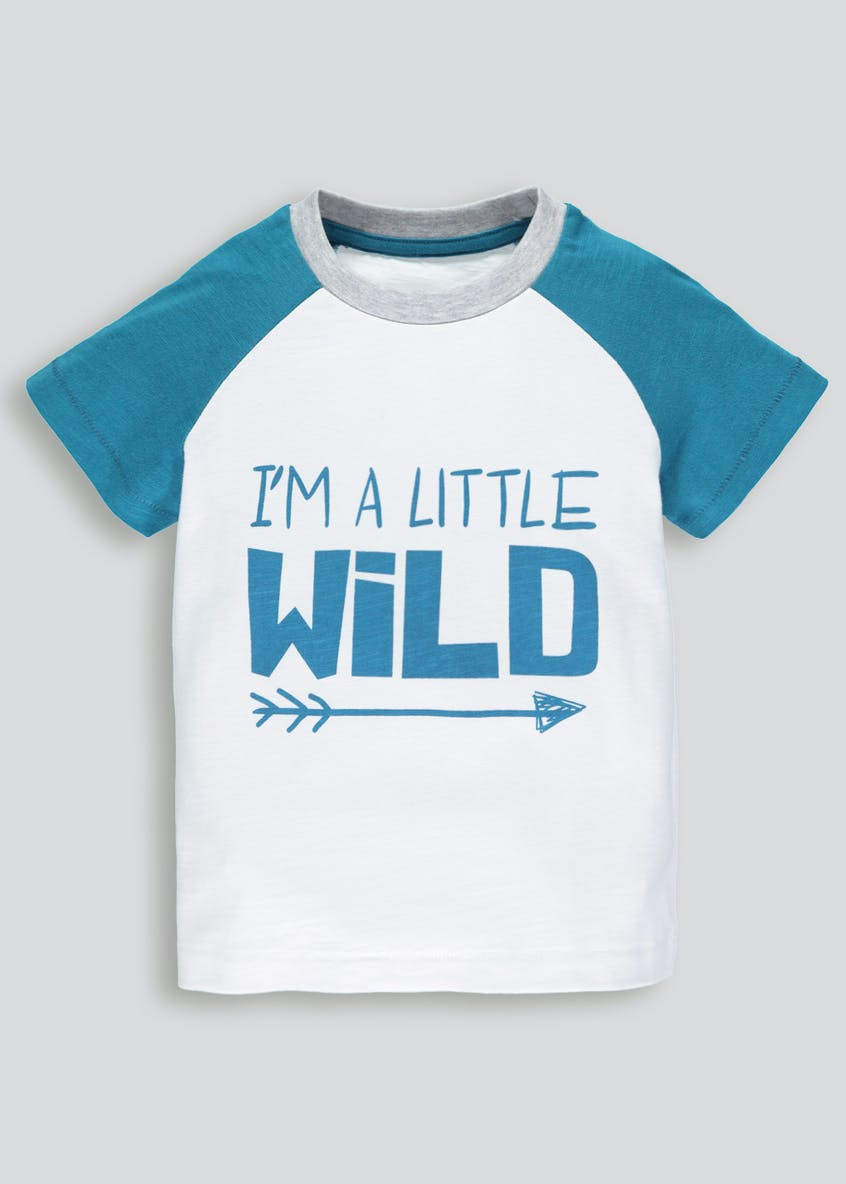 Kids Wild Slogan T-Shirt (3mths-6yrs)