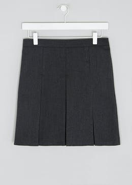 Girls Generous Fit Box Pleat School Skirt (10-16yrs)