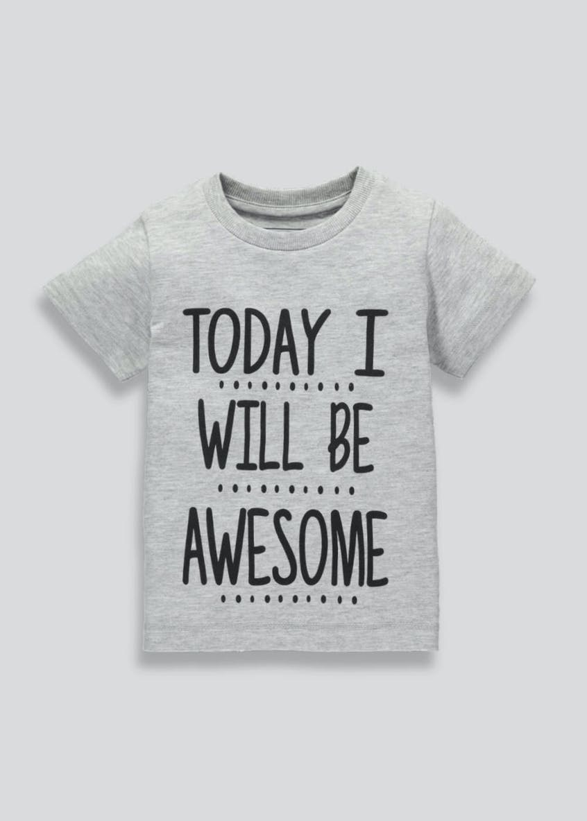 Kids Awesome Slogan T-Shirt (3mths-6yrs)