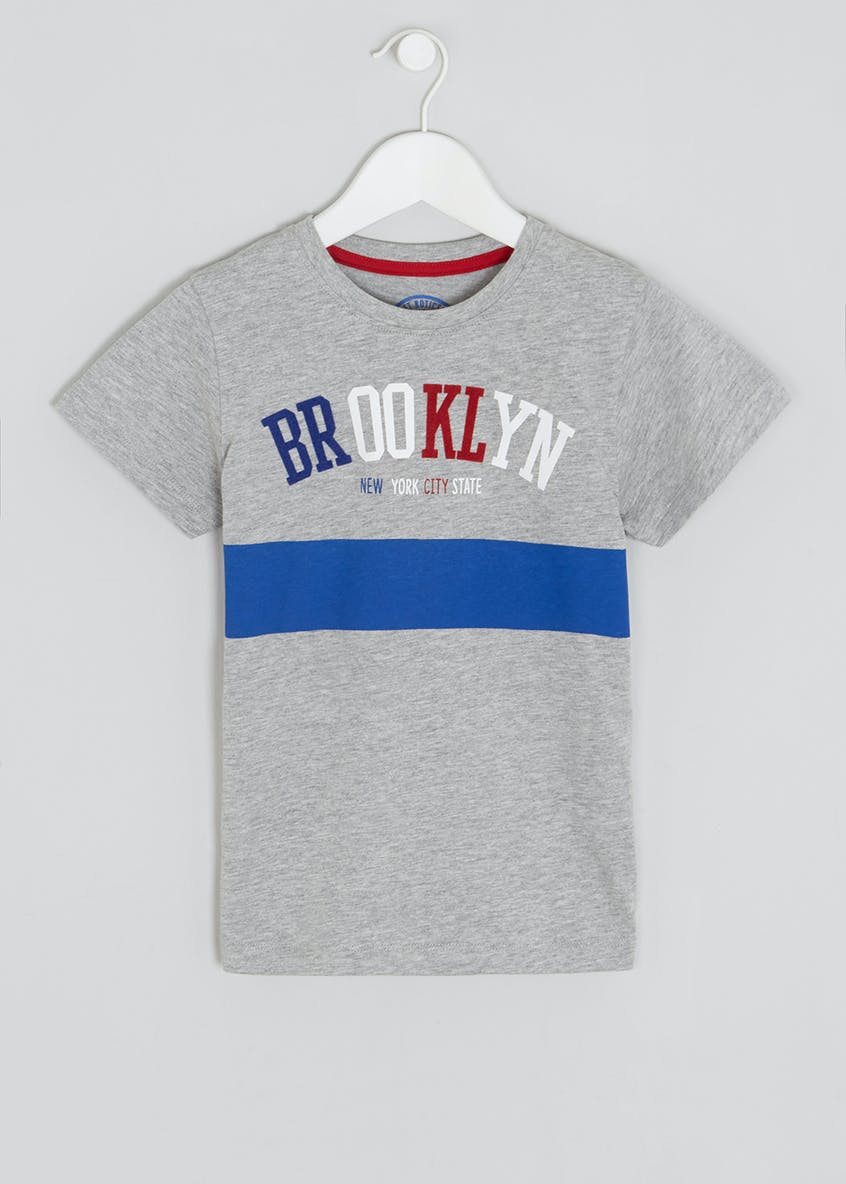 Boys Brooklyn Slogan T-Shirt (4-13yrs)