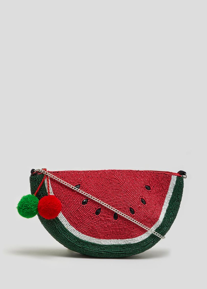 Beaded Watermelon Clutch Bag