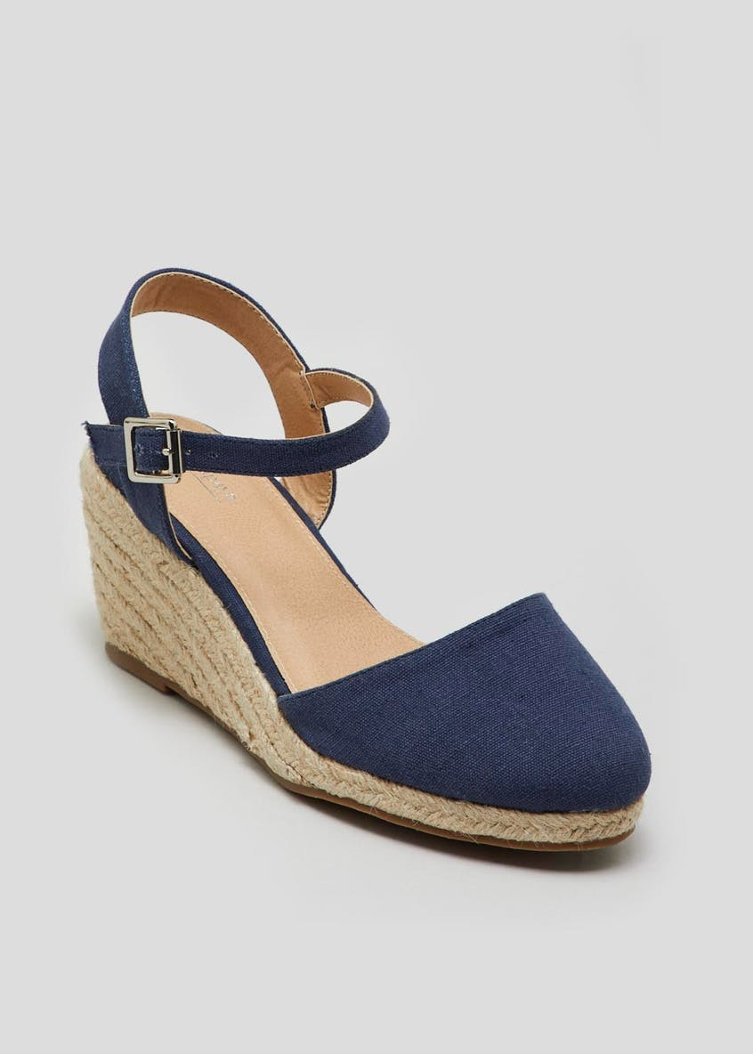 Rounded Toe Jute Wedges