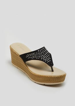 Soleflex Jewel Toe Post Wedges