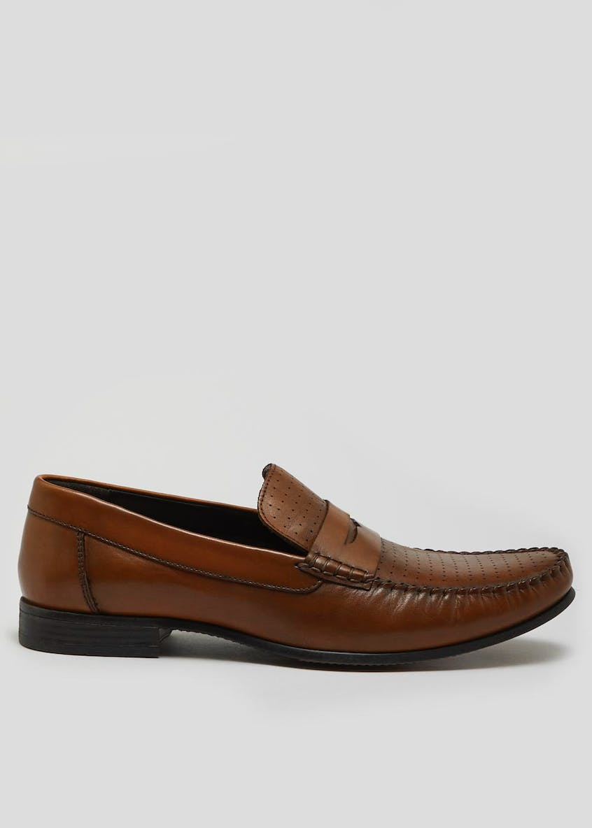 Edition Real Leather Saddle Loafers