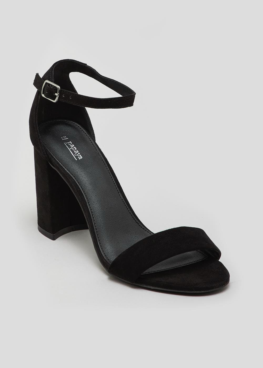 d456e752ebd17 Block Heel Strappy Sandals – Black – Matalan