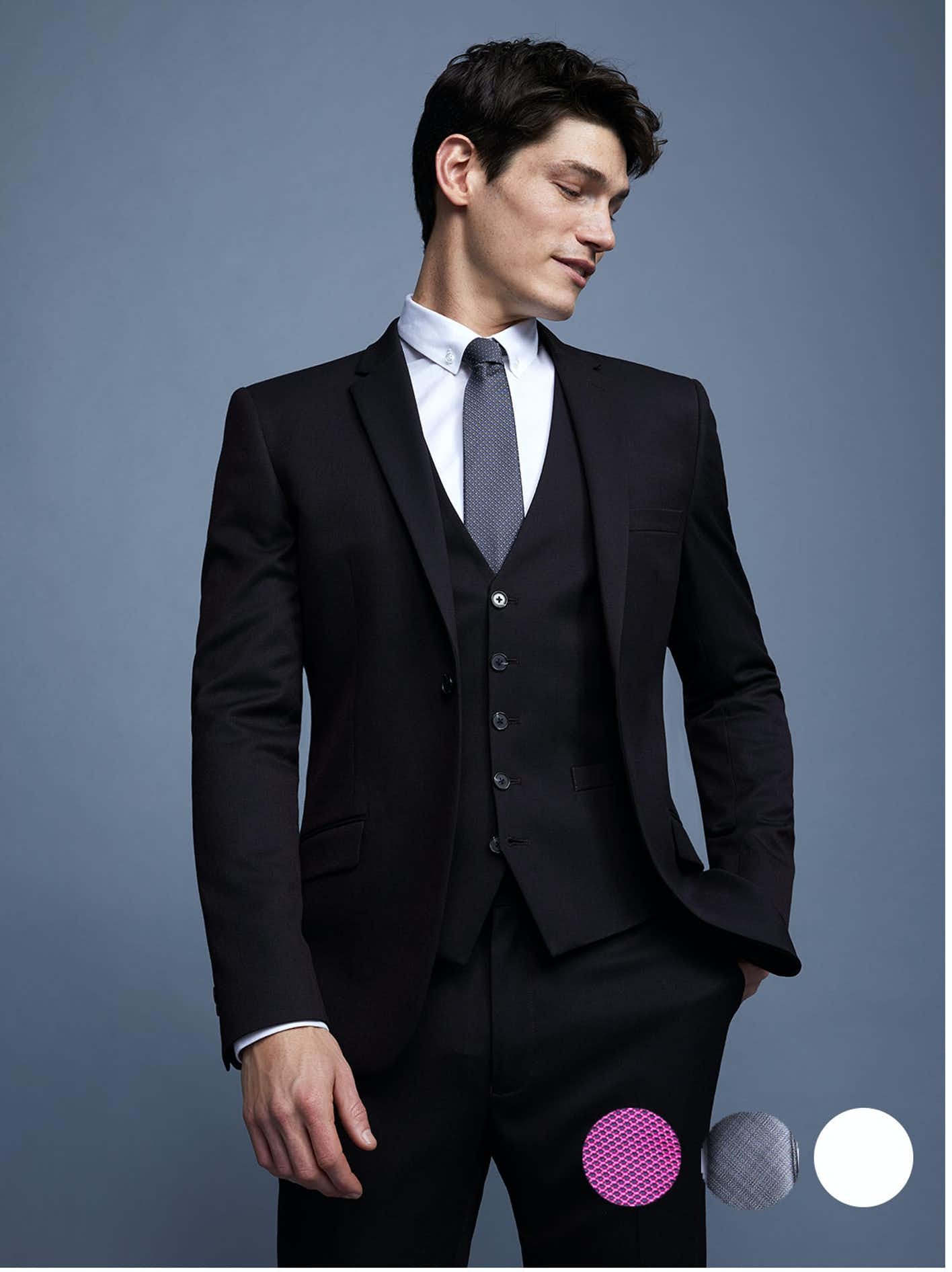 Shirt And Tie Combinations For A Dark Grey Pinstripe Suit