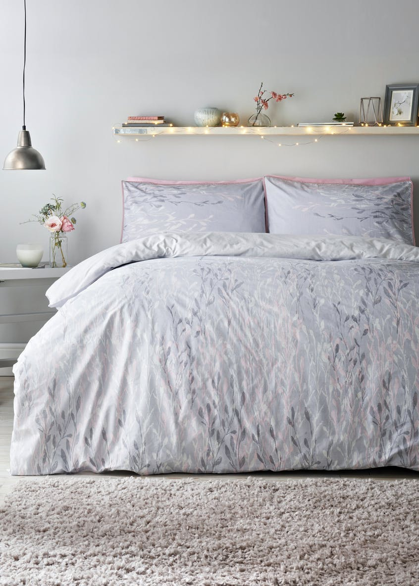 100% Cotton Foliage Print Duvet Cover (200 Thread Count)