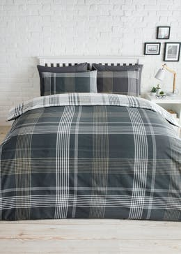 Check Print Duvet Cover