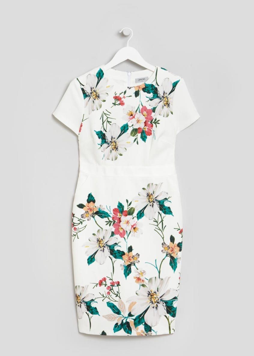 Soon Floral Pencil Dress - White