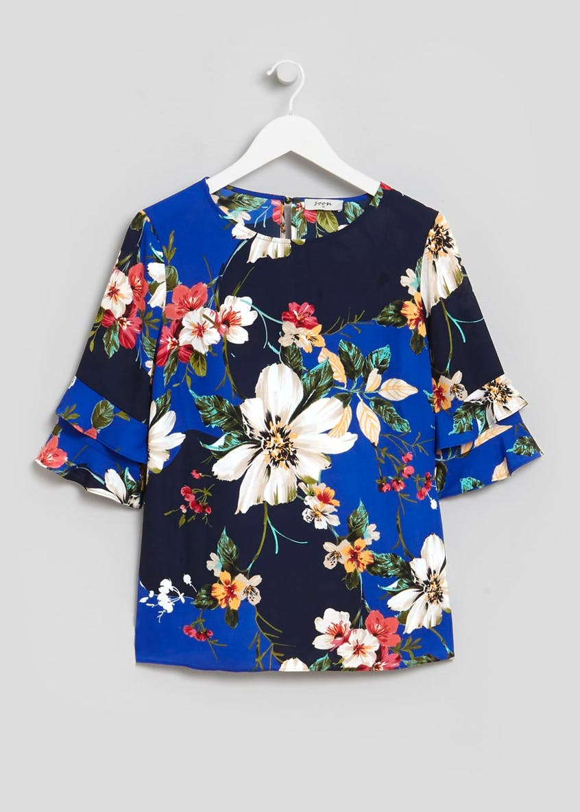 Soon Floral Frill Sleeve Box Top