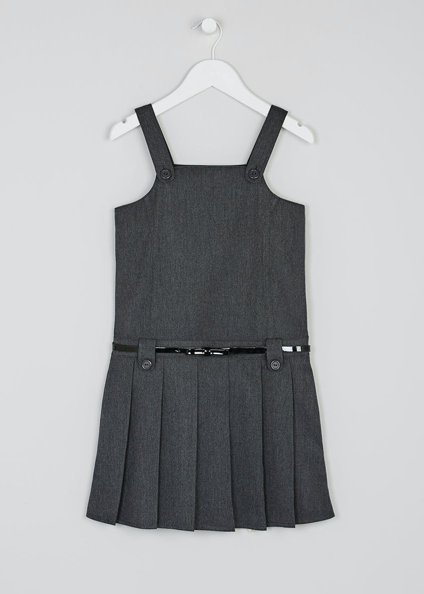 Girls Belted Box Pleat School Pinafore (3-9yrs)