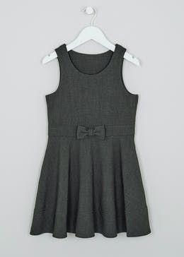 Girls Bow School Pinafore (3-9yrs)