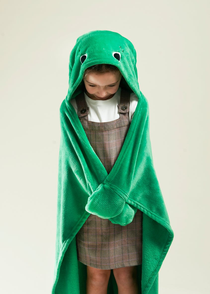 Dinosaur Hooded Throw (One Size)