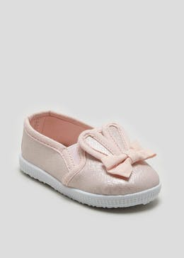 Girls Soft Sole Bunny Pre-Walker Baby Shoes (Newborn-18mths)