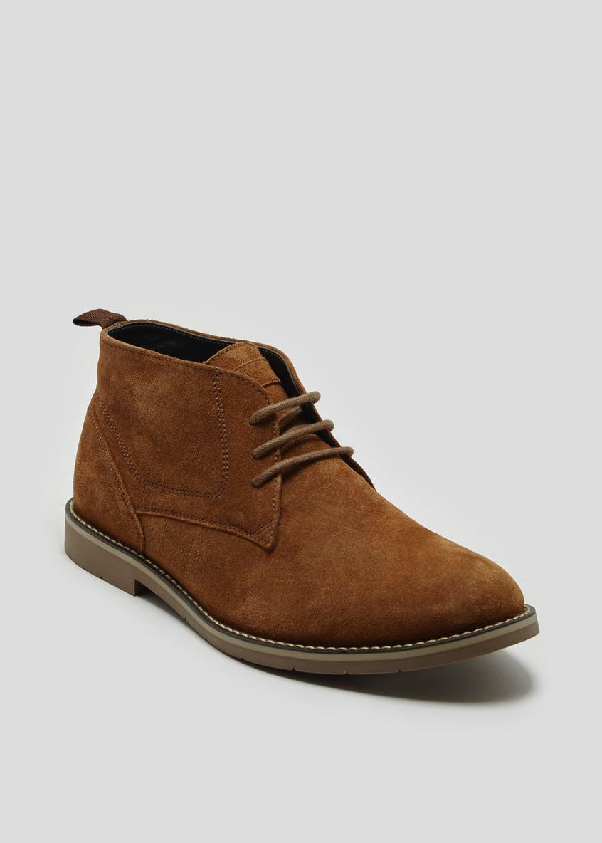 Tan Real Suede Desert Boots