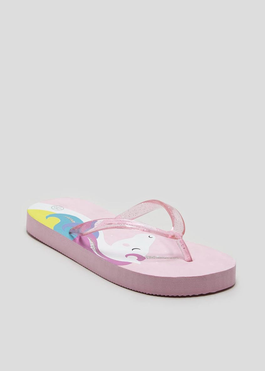 Girls Unicorn Flip Flops (Younger 10-Older 5)