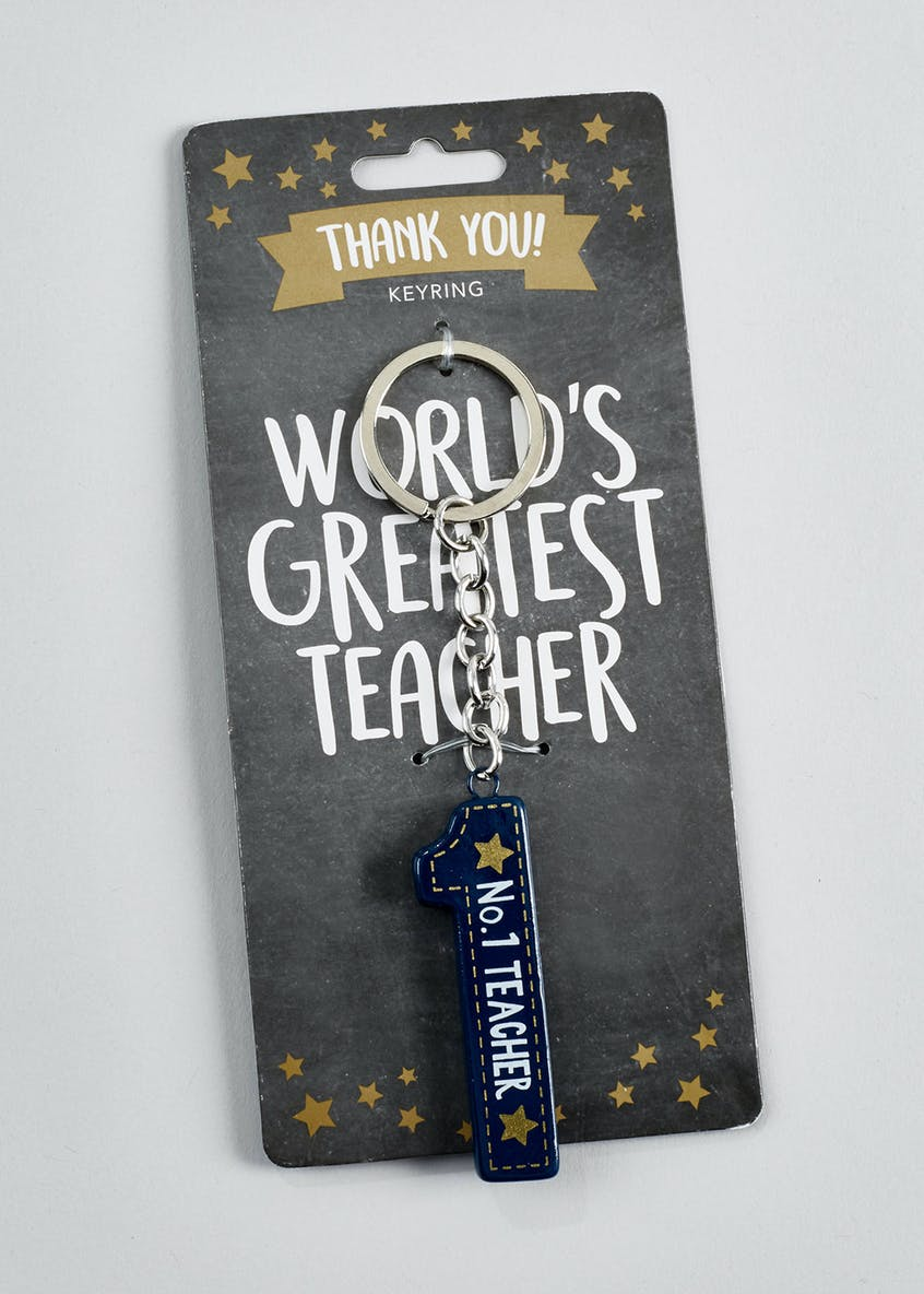 No.1 Teacher Keyring